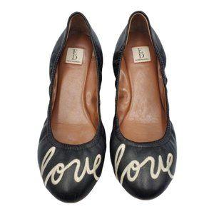 Ellen Degeneres Langston Love Leather Ballet Flats